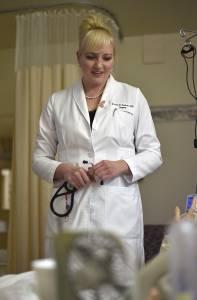 OHSU Bridges Magazine -- Dr. Jessica Carlson (cq) OHSU grad 2011 is the new surgeon at Curry General Hospital in Gold Beach, Oregon. © 2016 Fred Joe / www.fredjoephoto.com