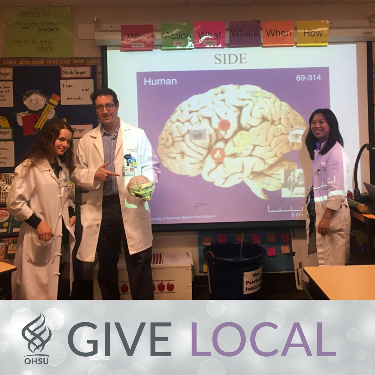 Neurology residents teach Milwaukie 5th graders about the brain | On