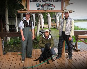 Fishing in Alaska with my son, 2010