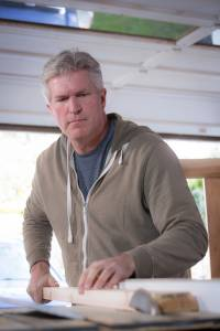 Colin Halstead, a DBS patient who has Parkinson's disease, is back working in his woodshop.