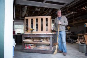 Colin Halstead of Eugene is back working in his woodshop after DBS surgery.