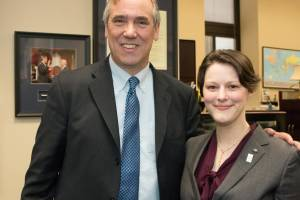 U.S. Senator Jeff Merkley (D-OR) and Mollie Marr in Senator Merkley's office