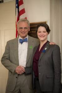 Representative Earl Blumenauer (D-OR 3rd District) and Mollie Marr.