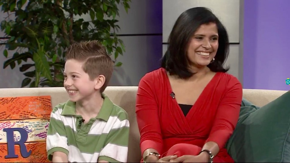 "Uma Borate appeared on the ""Portland Today"" television show with ten-year-old Ramsey Farrar, who had recently celebrated his fifth year free of cancer."