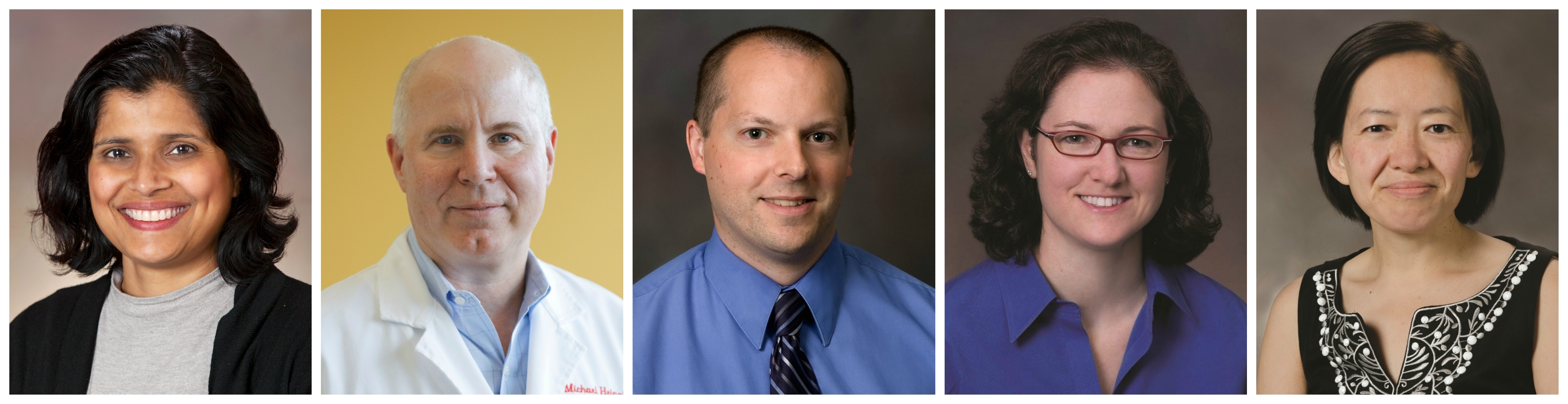 Portraits of the five clinical research scholars
