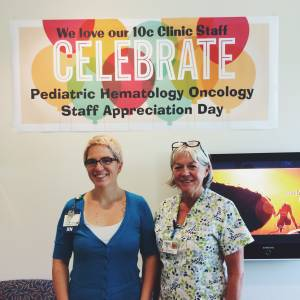 Lily and another wonderful Hem/Onc nurse, Patsy!