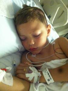 Isaiah after surgery 2