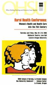 Image of the Rural Health Conference program of 2006