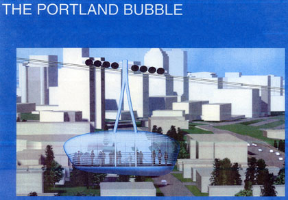 The Portland Bubble tram image