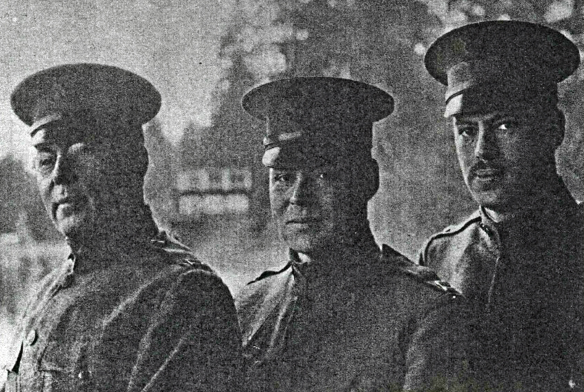 Drs. A. E. Rockey, Paul Rockey, and Eugene Rockey, pictured at Camp Lewis in 1918