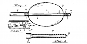 Image extracted from 1969 embolectomy catheter patent application showing the balloon expanded