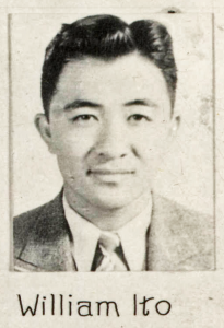 Image of Dr. William Ito from the Class of 1939 first year photograph composite.