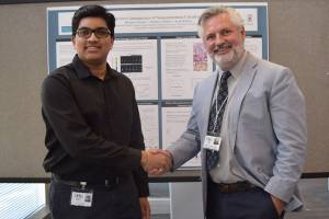 Steven_Shea and Shivam_Swamy at 2016 poster session