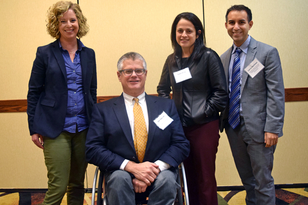 Fall 2016 Symposium speakers (left to right): Nichole Guilfoy, Ian Jaquiss, Dr. Eden King, Dr. Larry Martinez