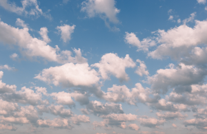 Photo of blye sky and puffy clouds