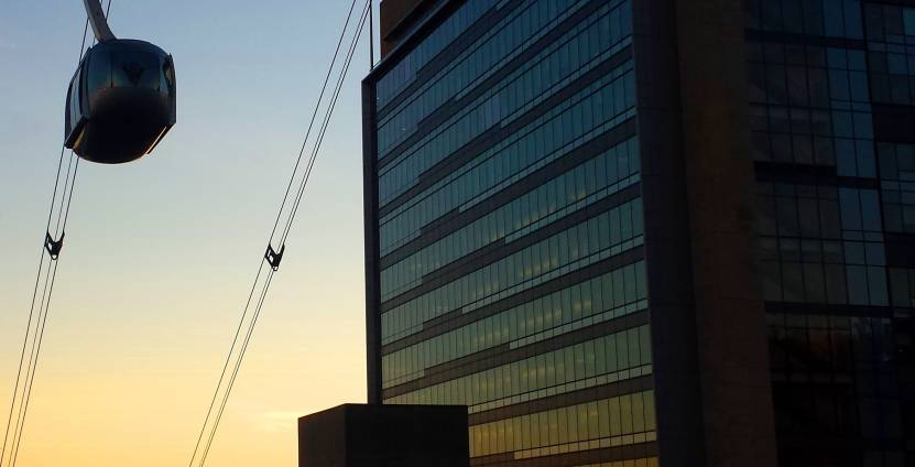 OHSU Tram sunset