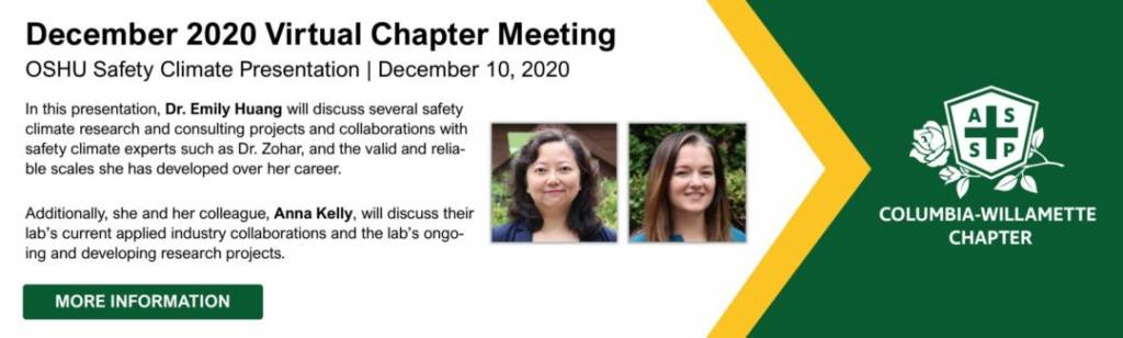 Dr. Emily Huang Safety Climate Lab
