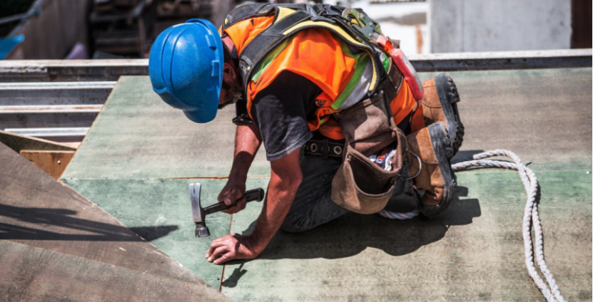 OccHealthSci Mental Health and Suicide Prevention in Construction podcast episode. Photo of construction worker working
