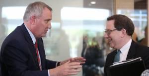 OHSU President Joe Robertson and UO President Michael Schill