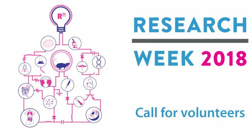 Volunteer at Research Week 2018