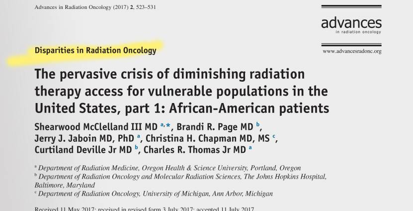 Shearwood McClelland's article in Advances in Radiation Oncology