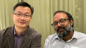 Xiaolin Nan (OHSU) and Ramesh Jasti (UO), recipients of OHSU-UO Collaborative Seed Grant funding