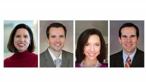 Pictured from left: Cristiane Miranda Franca, David Sheridan, Jessica Grant, and Matthew Hansen