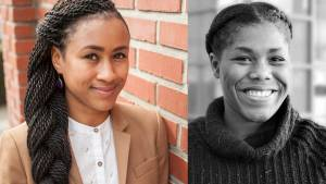 Sará King, Ph.D., and Aqilah McCane, Ph.D., postdoctoral fellows