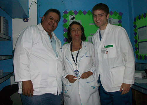 Dr. Graffe,Nurse Martha, and David Noyd at the Hospital Carabobo