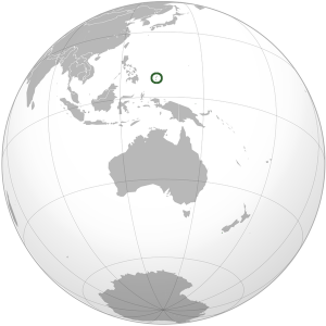 Palau on World Map